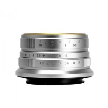 7Artisans 25/1.8 silver (Fujifilm X sklep - komis fotograficzny e-oko.pl