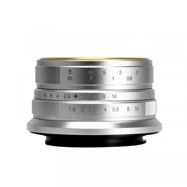 7Artisans 25/1.8 silver  sklep - komis fotograficzny e-oko.pl