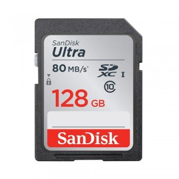 SanDisk SDXC 128 GB Ultra 80 MB/s UHS-1 Class 10