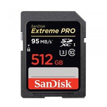 SanDisk SDXC 512 GB Extreme PRO 95/90 MB/s V30 UHS-I U3 Class 10