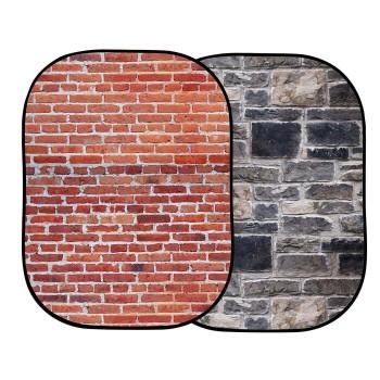 Tło Urban  LB5711 1,5 x 2,1m Red brick/Grey Stone