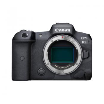 Pełnoklatkowy aparat bezlusterkowy Canon EOS R5. Nowy aparat cyfrowy korpus.