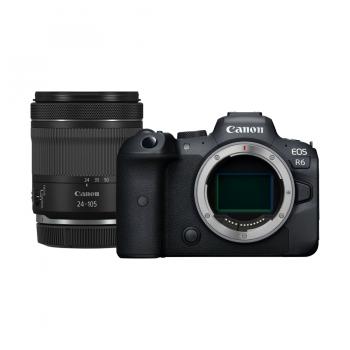 Pełnoklatkowy aparat bezlusterkowy Canon EOS R6 nowy w zestawie