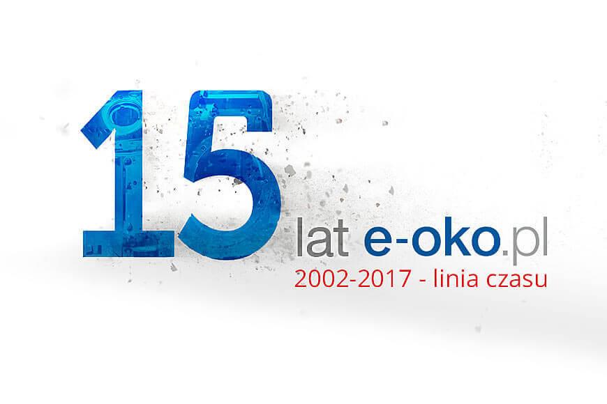 15 lat e-oko.pl, 2002-2017 - linia czasu