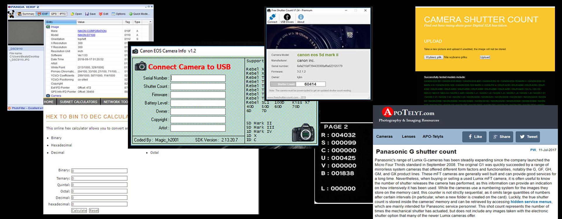 Jak sprawdzić przebieg aparatu fotograficznego?